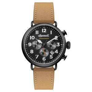 [インガソール]Ingersoll Automatic Stainless Steel and Leather Casual Watch, Color:Brown I03502