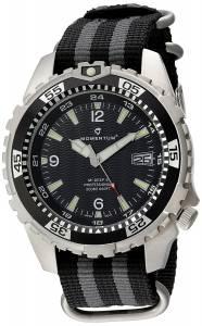 [モーメンタム]Momentum  Quartz Stainless Steel and Nylon Watch, Color:Black 1M-DV06B7S