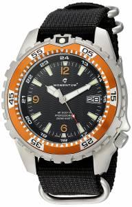 [モーメンタム]Momentum  Quartz Stainless Steel and Nylon Watch, Color:Black 1M-DV06O7B