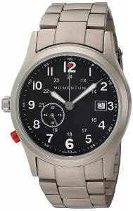 [モーメンタム]Momentum  Swiss Quartz Titanium Dress Watch, Color:Grey 1M-SP60B0 メンズ