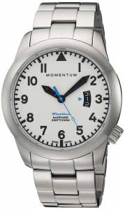 [モーメンタム]Momentum  Swiss Quartz Stainless Steel Watch, Color:SilverToned 1M-SP18LS0