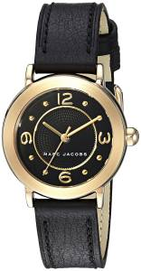 [マーク ジェイコブス]Marc Jacobs  Riley Black Leather Watch MJ1475 レディース
