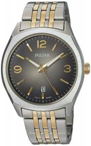 [パルサー]Pulsar  Quartz Brass and Stainless Steel Dress Watch, Color:Two Tone PS9483 メンズ