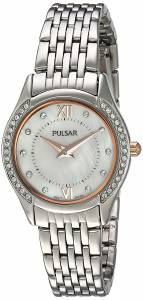 [パルサー]Pulsar  Quartz Brass and Stainless Steel Dress Watch, Color:SilverToned PM2235