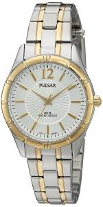 [パルサー]Pulsar  Quartz Brass and Stainless Steel Dress Watch, Color:Two Tone PH8256