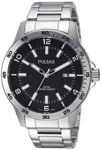 [パルサー]Pulsar  Quartz Stainless Steel Dress Watch, Color:SilverToned PH9101X メンズ
