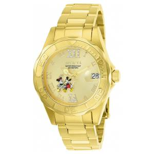 [インヴィクタ]Invicta  Disney GoldTone Steel Bracelet & Case Quartz Analog Watch 22868