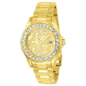 [インヴィクタ]Invicta  Disney GoldTone Steel Bracelet & Case Quartz Analog Watch 22870