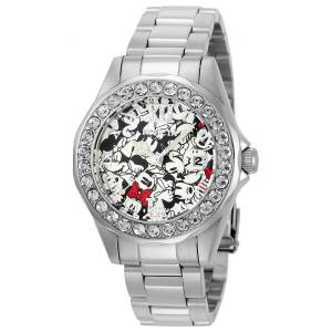 [インヴィクタ]Invicta Disney Limited Edition Black & White Dial Steel Bracelet Crystal 22872
