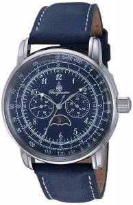 [ブルゲルマイスター]Burgmeister Quartz Metal and Leather Casual Watch, Color:Blue BM335-133