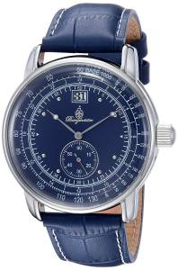 [ブルゲルマイスター]Burgmeister Quartz Metal and Leather Casual Watch, Color:Blue BM333-133