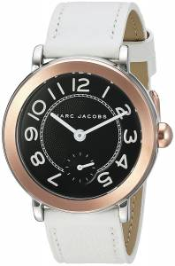 [マーク ジェイコブス]Marc Jacobs  Riley White Leather Watch MJ1515 レディース