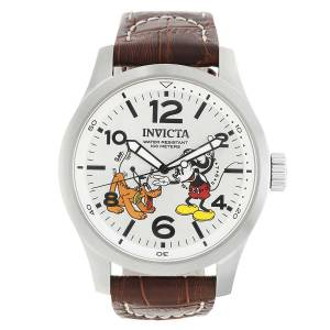 [インヴィクタ]Invicta Disney Limited Edition 48mm Brown Leather Band Steel Case Quartz 22874