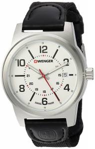 dc826175ca [ウェンガー]Wenger 'Field Gear' Swiss Quartz Stainless Steel and Nylon Casual  01.0441