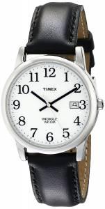 [タイメックス]Timex 腕時計 Easy Reader Black Leather Strap Watch T2H281 メンズ