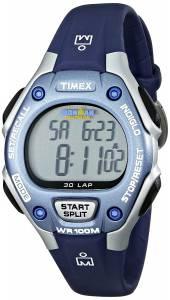 [タイメックス]Timex  Ironman 30Lap Digital Quartz MidSize Watch, Blue/SilverTone T5K018