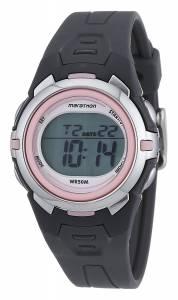 [タイメックス]Timex  Marathon by T5K360 Digital MidSize Dark Gray/Pink Resin Strap T5K360M6