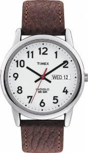 [タイメックス]Timex Mns Easy Reader Brwn Lthr Strp White Dial\, Day/Date Arabic numerals 20041