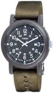 [タイメックス]Timex 腕時計 T2N363 Green Cloth Quartz Fashion Watch T2N363AU メンズ
