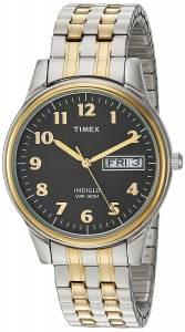 [タイメックス]Timex  'Charles Street' Quartz Brass and Stainless Steel Dress Watch, T2N0939J