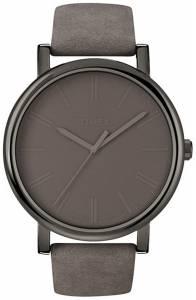 [タイメックス]Timex 腕時計 Easy Reader Grey Leather Strap Watch T2N795 メンズ