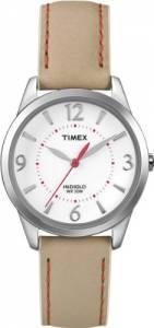 [タイメックス]Timex T2N861 Weekender Beige with Coral Stitching Leather Strap Watch T2N861KW