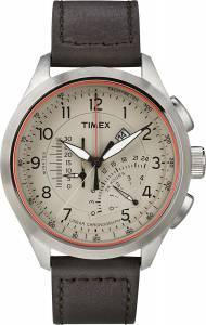 [タイメックス]Timex  Intelligent Quartz T2P275 Cream Brown Linear Chronograph Watch T2P275AU