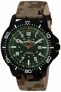 [タイメックス]Timex  T49965 Expedition Uplander Green Camo Fabric Strap Watch T499659J