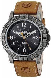 [タイメックス]Timex T49991 Expedition Rugged Metal Field Tan/Black Leather Strap T499919J