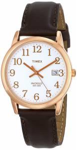 [タイメックス]Timex  T2P563 Easy Reader Rose GoldTone Brown Leather Strap Watch T2P5639J