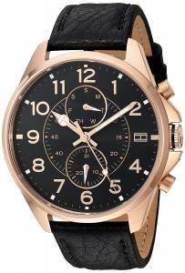 [トミー ヒルフィガー]Tommy Hilfiger  Quartz Gold and Leather Watch, Color:Black 1791273