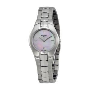 [ティソ]Tissot 腕時計 TRound Pink Mother of Pearl Dial Stainless Steel Watch T0960091115100