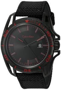 [カルバン クライン]Calvin Klein 'Earth' Swiss Quartz Stainless Steel and Leather K5Y31ZB1