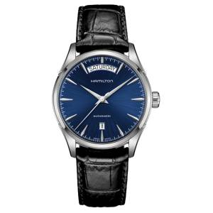 [ハミルトン]Hamilton 腕時計 Jazzmaster Blue Dial Black Leather Watch H32505741 メンズ