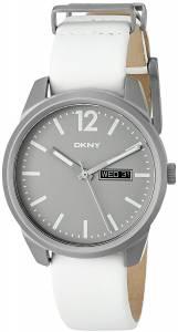 [ダナキャラン]DKNY  'Bryant Park' Quartz Titanium and White Leather Casual Watch NY2445