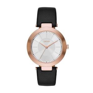 [ダナキャラン]DKNY  'Stanhope' Quartz Stainless Steel and Black Leather Casual Watch NY2468