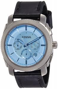 [フォッシル]Fossil  Machine Chronograph Watch with Black Leather Strap FS5160 メンズ