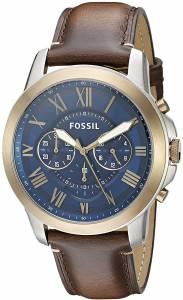 [フォッシル]Fossil 腕時計 Grant Chronograph Dark Brown Leather Watch FS5150 メンズ