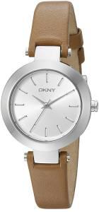 [ダナキャラン]DKNY  Stanhope Stainless Steel Watch with Brown Leather Strap NY2406