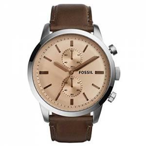[フォッシル]Fossil 腕時計 Townsman Chronograph Dark Brown Leather Watch FS5156 メンズ