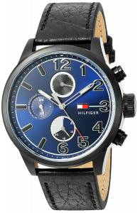 [トミー ヒルフィガー]Tommy Hilfiger Quartz Resin and Leather Casual Watch, 1791241