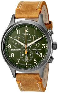[タイメックス]Timex  Expedition Scout Chrono Tan/Green Leather Strap Watch TW4B044009J