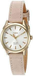 [タイメックス]Timex Chesapeake Quartz Brass and Leather Dress Watch, Color:Brown TW2P820009J