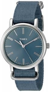 [タイメックス]Timex  TW2P88700 Originals Tonal Blue Nylon SlipThru Strap Watch TW2P88700ZA