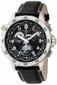 [ハミルトン]Hamilton 腕時計 Worldtimer Chronograph Black Dial Watch H76714735 メンズ