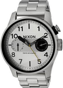 [ニクソン]NIXON  'Safari Deluxe' Quartz Stainless Steel Watch, Color:SilverToned A976130