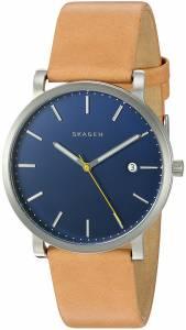 [スカーゲン]Skagen 腕時計 Hagen Light Brown Leather Watch SKW6279 メンズ