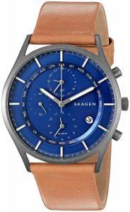 [スカーゲン]Skagen 腕時計 Holst Light Brown Titanium Leather Watch SKW6285 メンズ
