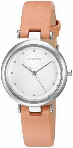 [スカーゲン]Skagen 腕時計 Tanja Light Brown Leather Watch SKW2455 レディース