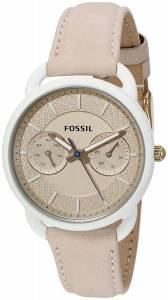 [フォッシル]Fossil  Tailor Multifunction Light Brown Leather Watch ES4008 レディース